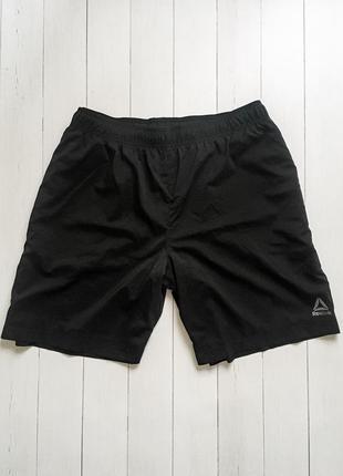 Мужские спортивные черные шорты reebok