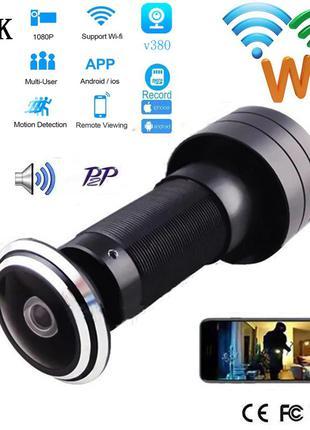 Видеоглазок HD1080Р с WI-FI, автозапись, детектор движения, камер