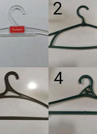 Пластмассовые плечики вешалки тремпеля для одежды