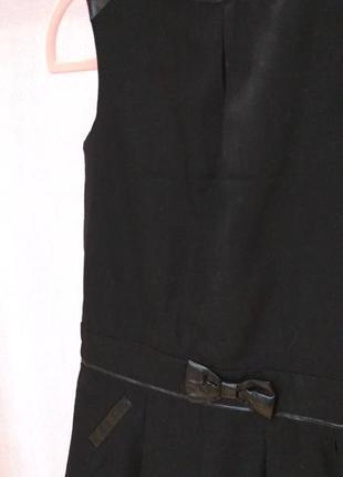 Платье черное,со вставками кожзама