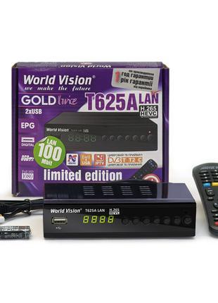 Т2 ресивер World Vision T625A LAN (DVB-Т2/C приемник, тюнер)