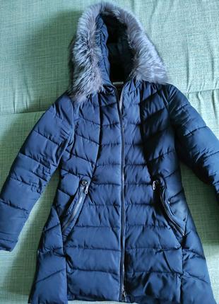 Пуховик зимний с натуральным мехом