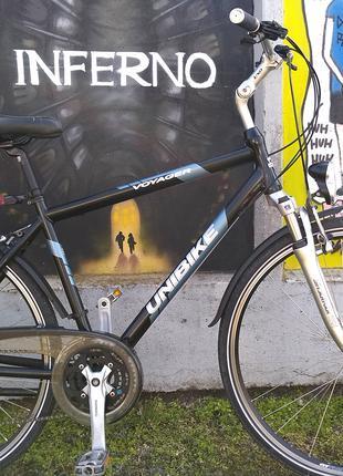 "Велосипед Unibike Voyager рама 19"", колёса 28, регулировка руля"
