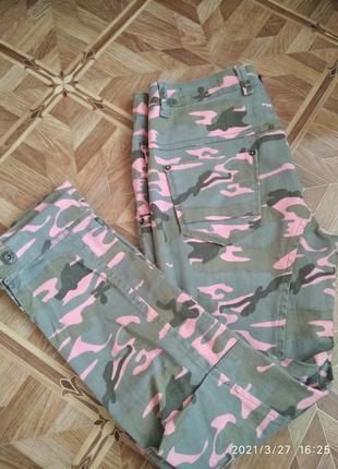 Женские камуфляжные штаны джинсы speedway