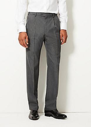 Деловые брюки шерсть marks &spencer