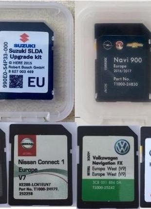 Навигация SD GPS NISSAN Toyota RENAULT Opel Volkswagen SUZUKI Mer