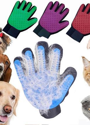 Силиконовая перчатка  prostormer, щетка для вычесывания домашн...