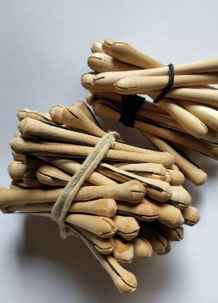 Коклюшки деревянные, парикмахерские для волос химической завивки