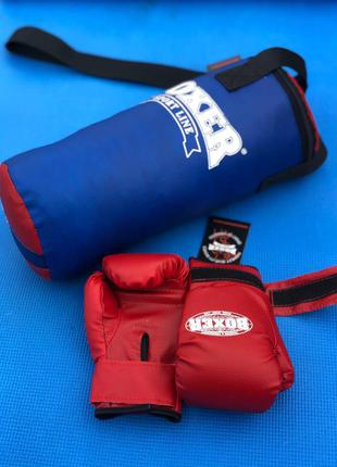 Боксерский набор детский (перчатки+мешок).