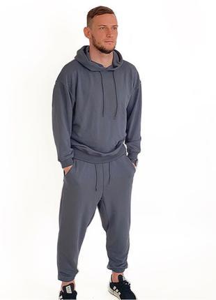Мужской костюм Zara (цвет графит) размеры s-m-l-xl