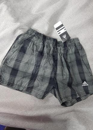 Шорты adidas плащёвка короткие для спорта пляжа купания плавания