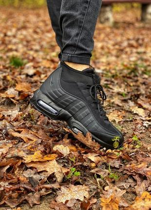 Мужские теплые кроссовки осень-зима nike air max 95 sneakerboot
