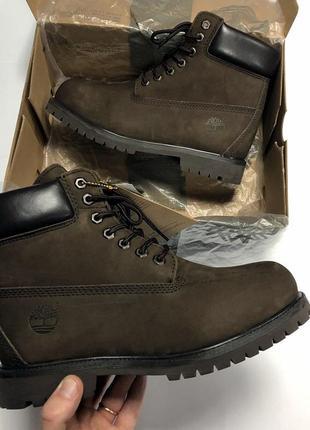 🧿зимние мужские ботинки🧿 кожаные коричневые сапоги с мехом зим.