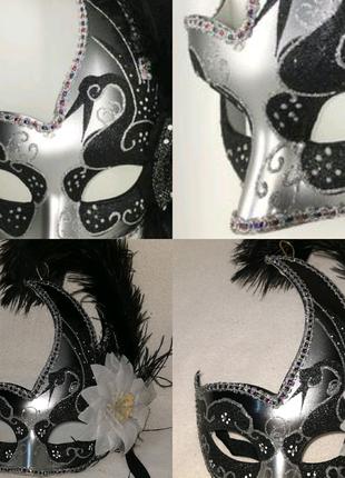 Карнавальная женская маска в венецианском стиле Hand Made