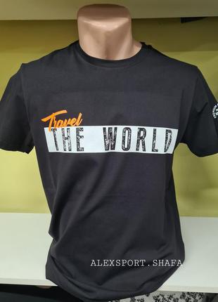 Футболка,  футболка с рисунком, мужская футболка, чёрная футболка