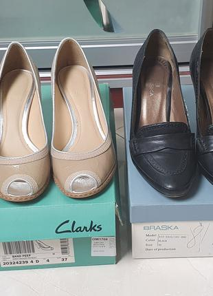 Женские фирменные туфли 36-37 размеры в отличном состоянии