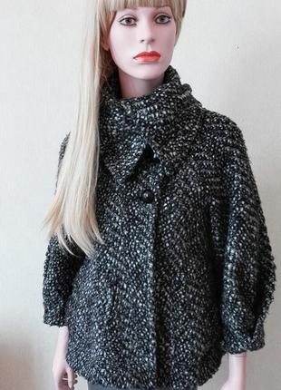 Буклированное пальто шерсть мохер