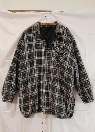 Стеганная байковая  рубашка на утеплителе куртка , на синтепон...