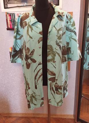 """Натуральная, дизайнерская рубашка """"гавайи"""", бренда elena grune..."""