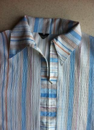 Летняя рубашка-безрукавка большого размера
