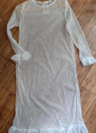 Прозрачное белое платье miss pop