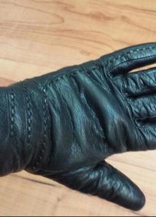 Кожаные теплые перчатки, рукавицы