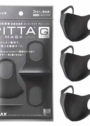 Маска многоразовая защитная питта угольная оригинал pitta mask...