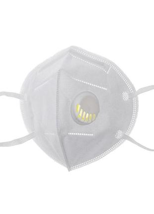 Защитная маска kn95 респиратор с угольным фильтром черная ffp2...