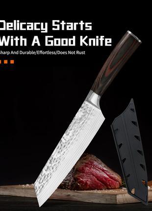 Нож шефа японский кухонный ніж кохонний сантоку поварской повара
