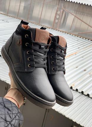 Мужские ботинки {зима, натуральная кожа}