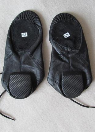 Обувь для танцев/ чешки джазовки/ натуральная кожа новые