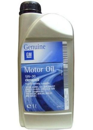 Моторное масло GM 5W-30 1л.1942000
