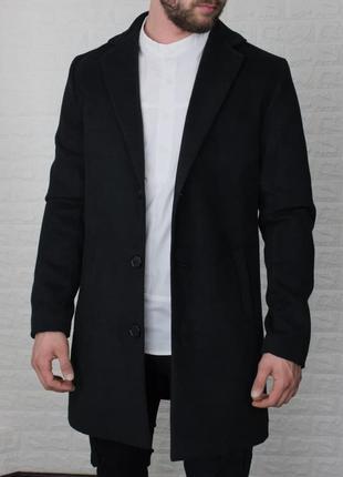 Пальто мужское классическое кашемир черное / пальто чоловіче...