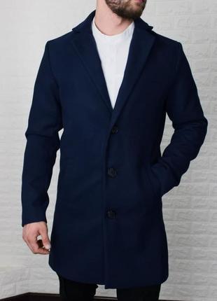 Пальто мужское классическое кашемир синее / пальто чоловіче...