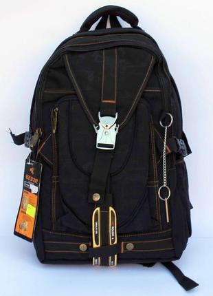 Рюкзак, ранец, городской рюкзак, брезентовый рюкзак, черный рю...