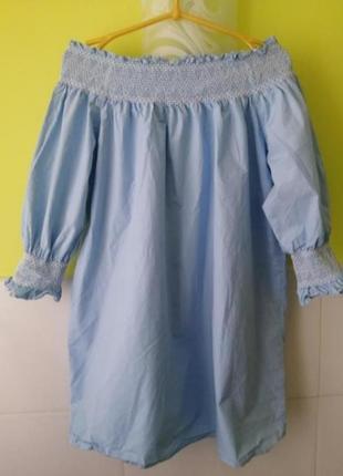 Платье с открытыми плечами  zara