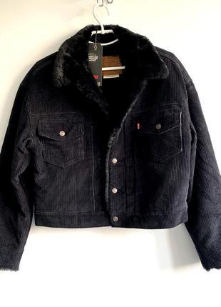 Куртка вельветова жіноча levis premium heritage trucker jacket...