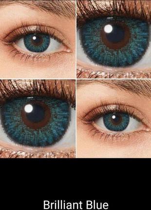 Цветные косметические линзы для глаз. несколько цветов в наличии