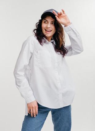 Рубашка сорочка оверсайз oversize свободного кроя бойфренд