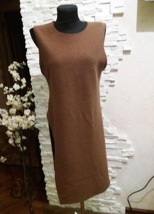 Zara стильная  шерстяная туника .100 шерсть