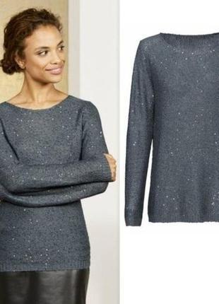 Джемпер пуловер с пайетками esmara германия р. 50-52