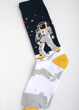 👨🚀яскраві чоловічі шкарпетки/мужские носки космос со звездами...