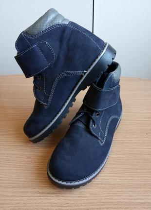 Качественные ботинки из натуральной кожи утепленные