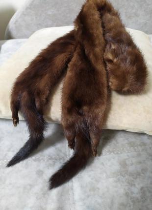 Горжетка чулок норковый шарф скандинавская норка