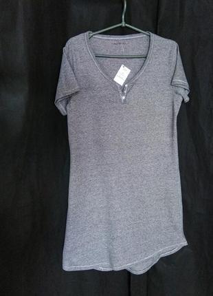 Платье футболка туника домашняя миди свободный крой оверсайз