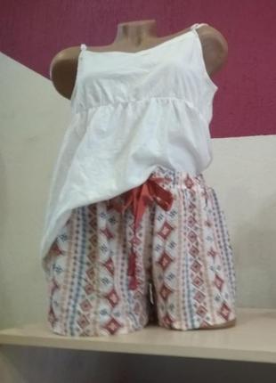Пижама женская esmara майка шорты домашняя одежда комплект кос...
