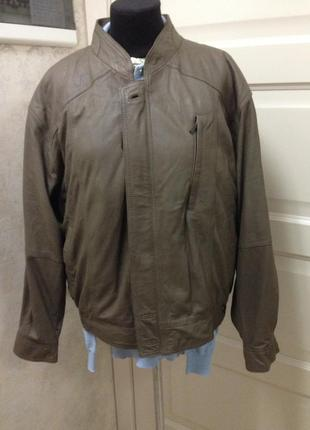 Шикарная курточка с кожи ягнёнка новая на пог65