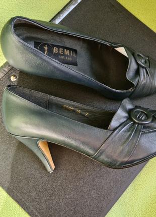Туфли темно-синие (почти чёрные) на шпильке 34 р-р. Bemil Milano