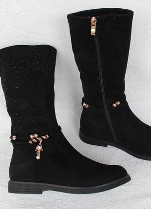 Зимние ботинки, сапоги 36 размера на низком ходу