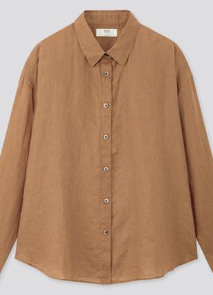 Рубашка из премиум льна uniqlo